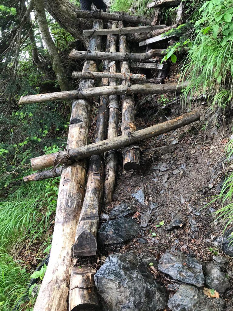 赤石岳への登山道