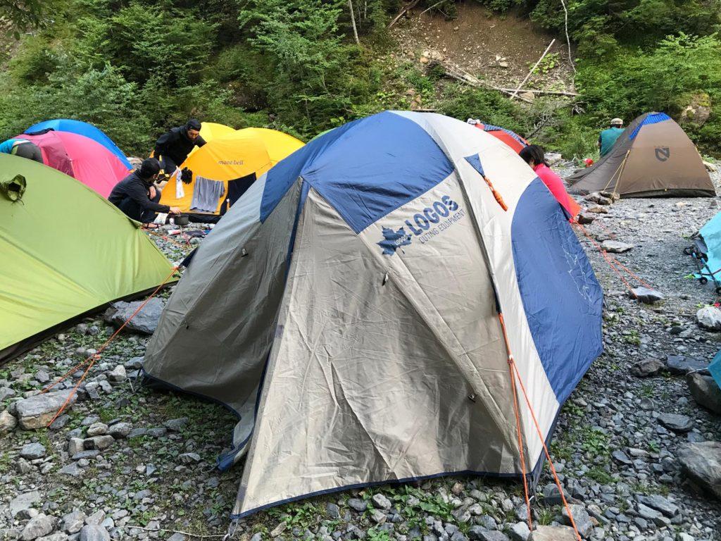 北沢峠 キャンプ場