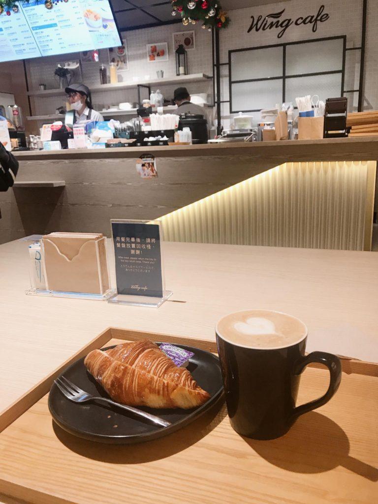 空港で朝ごはん