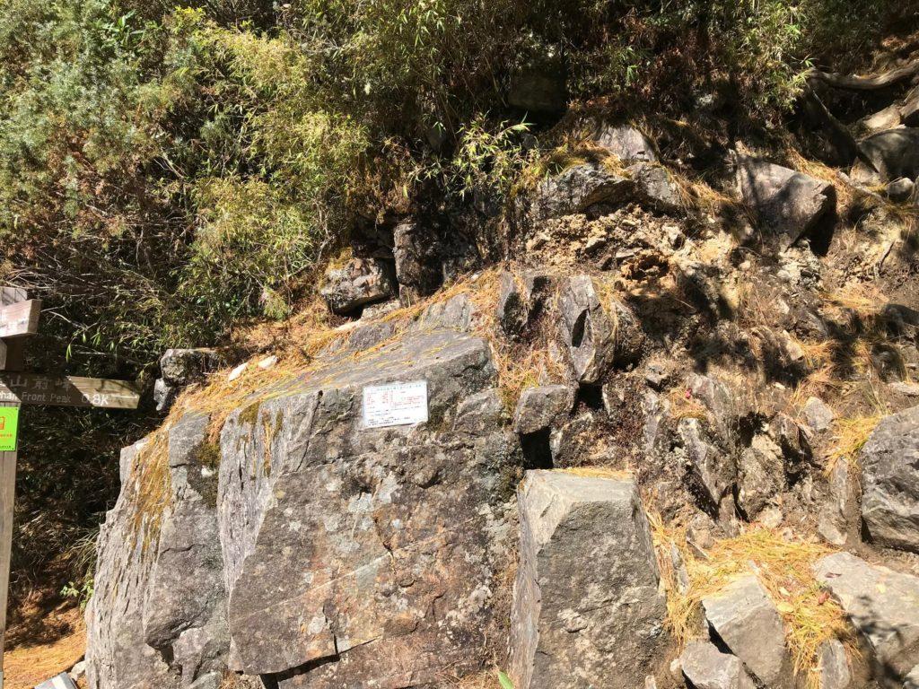 玉山 前峰への道