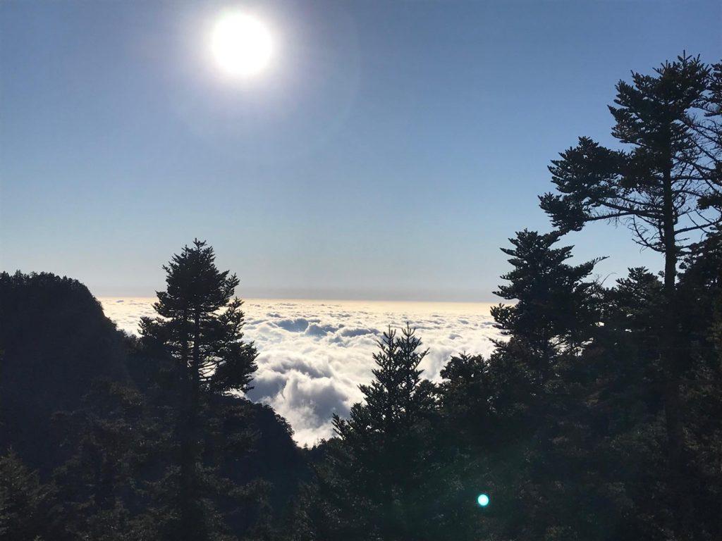 玉山 拝雲山荘からの景色