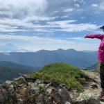 悪沢岳から富士山