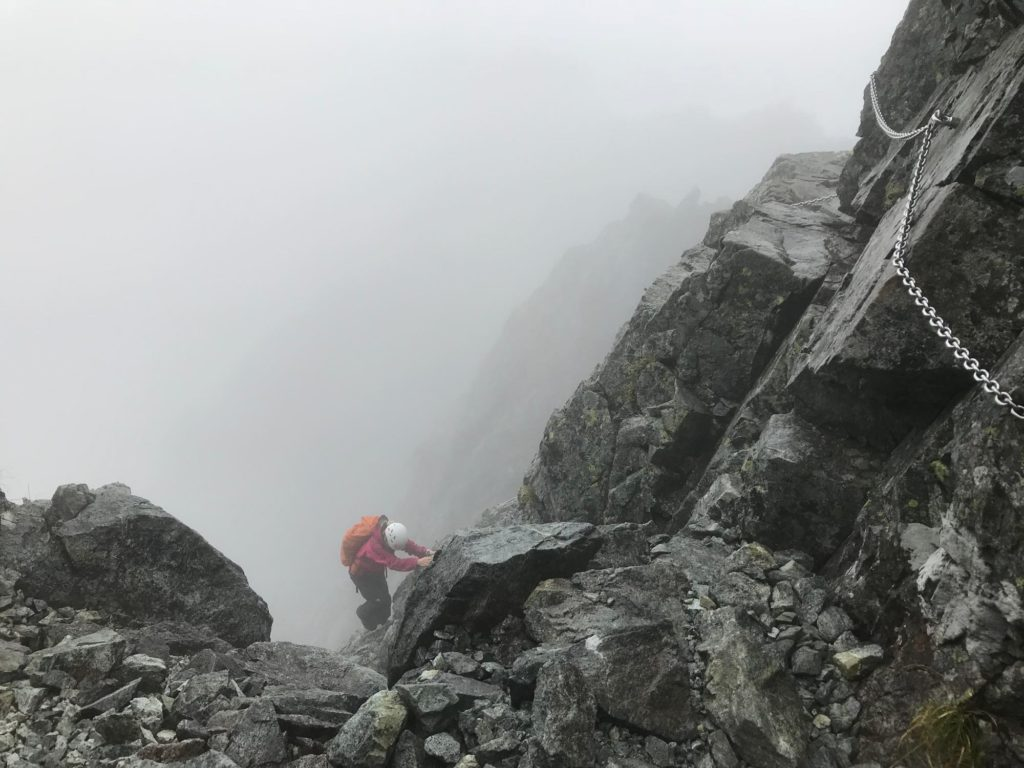 剱岳 カニのタテバイ