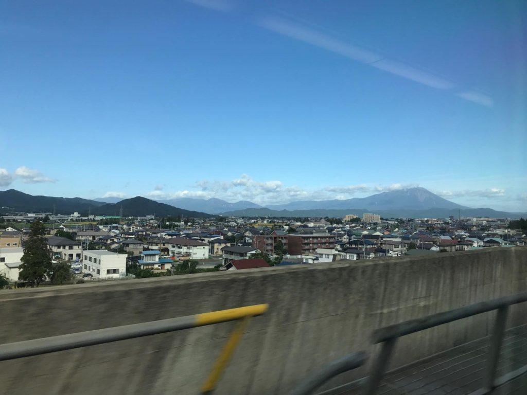新幹線から岩手山