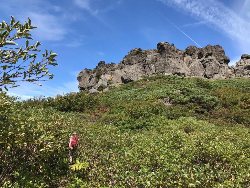 岩手山 登山道