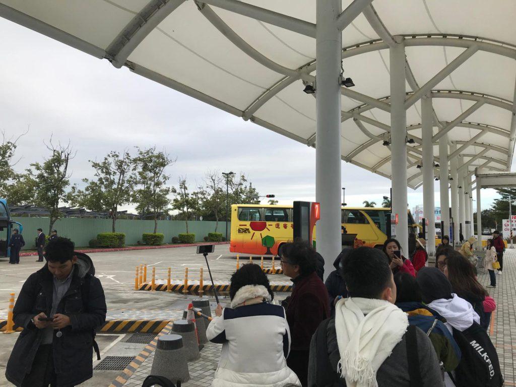 台湾 阿里山へのバス