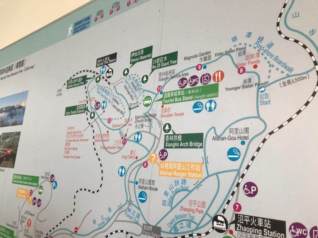 台湾 阿里山地図