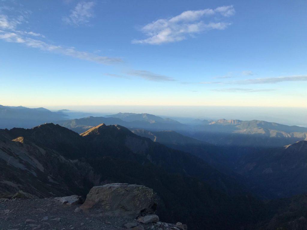 玉山山頂にて