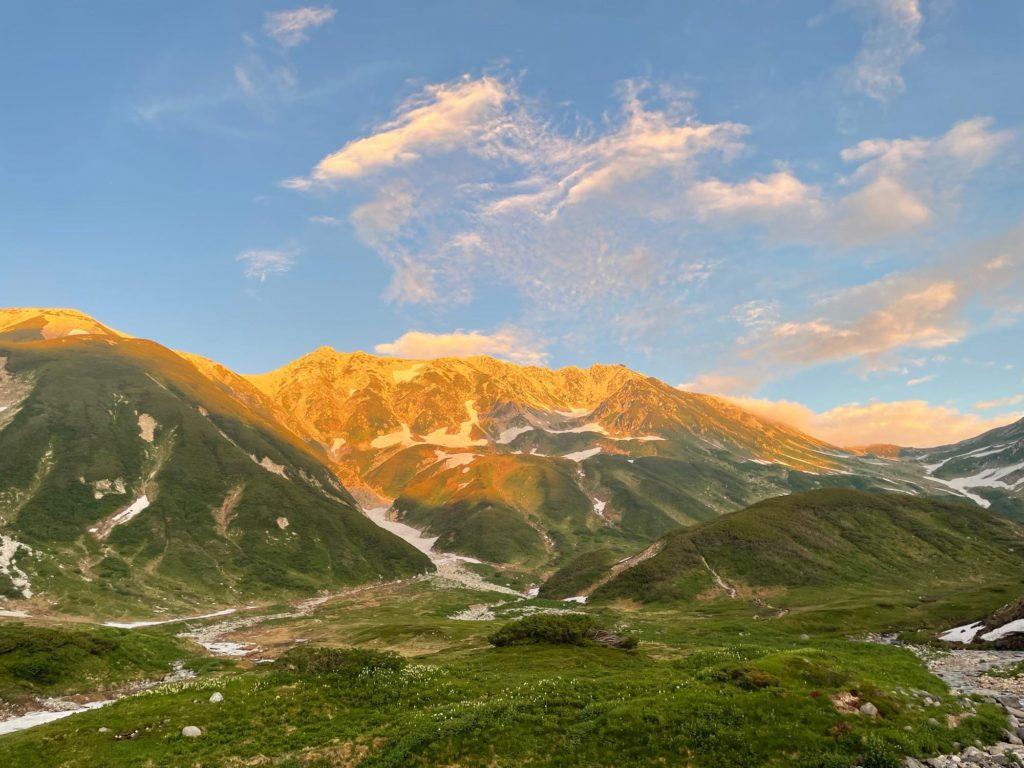 立山の夕日